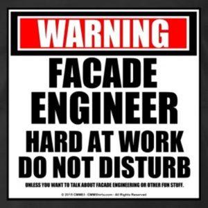 Facade engineer at work