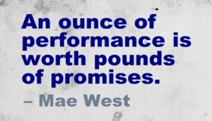 Performance and promises