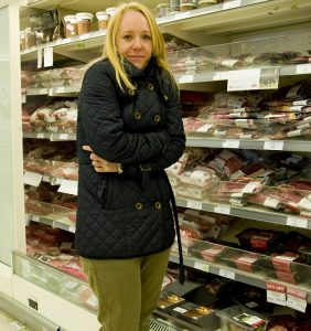 Shivering in supermarket