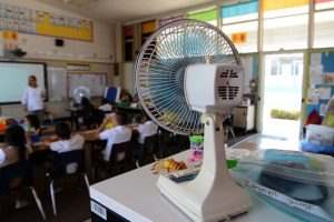 Classroom with fan